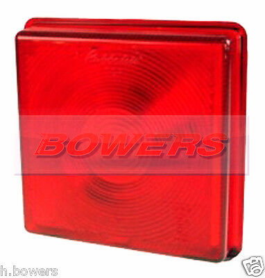 Rubbolite 5428 Stop/Tail Light Red Rear Lens For Ifor Williams Trailer P06770/T