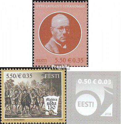 Estonia 616,618,619 (complete.issue.) unmounted mint / never hinged 2008 Stransm