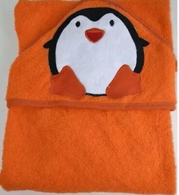 Baby Hooded Bath towel Orange PENGUIN