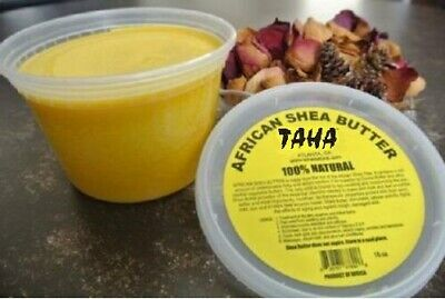 TAHA 100% NATURAL AFRICAN  SHEA BUTTER (creamy ) 16 Oz **100% ORIGINAL**