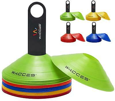 Wacces Drill Disc Cones Set Soccer Football Field Marking Track Agility Training