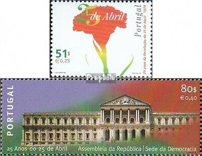 Portugal 2335-2336 (complete.issue.) unmounted mint / never hinged 1999 carnatio