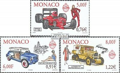 Monaco 2528-2530 (complete.issue.) unmounted mint / never hinged 2000 Car and Fa