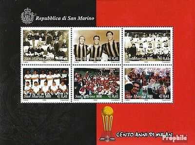 San Marino block25 (complete.issue.) unmounted mint / never hinged 1999 AC milan