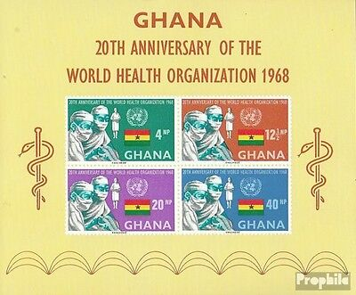 Ghana block32 (complete.issue.) unmounted mint / never hinged 1968 WHO