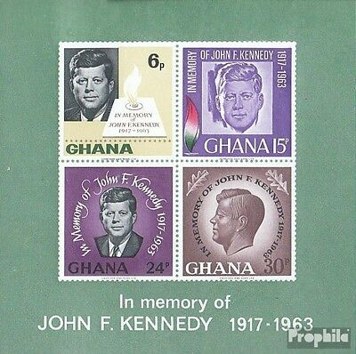 Ghana block19 (complete.issue.) unmounted mint / never hinged 1965 Kennedy