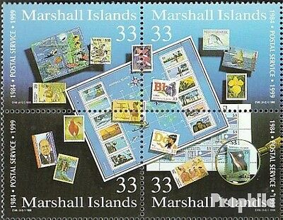 Marshall-Islands 1177-1180 block of four (complete.issue.) fine used / cancelled