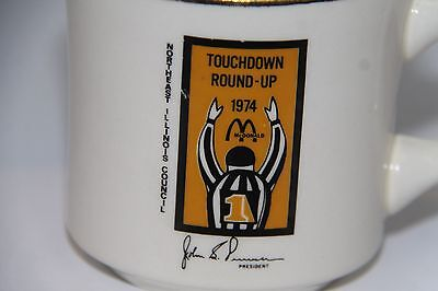 Boy Scouts McDonalds Touchdown Round-Up Mug 1974 Northeast Illinois Council