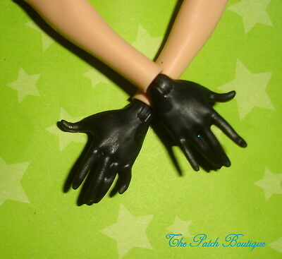 Ever After High Doll Replacement Solid Black Replacement Doll Glove Style Hands