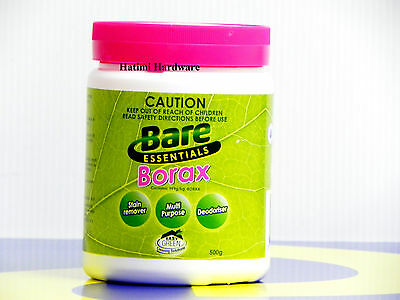 Borax 500G Stain Remover Deodoriser Insect Killer Weed Control 100% Pure Powder