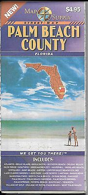 County Map of Palm Beach County, Florida, by Map Supply