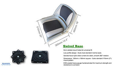Fold-Down Boat Seat with Swivel Folding Chair