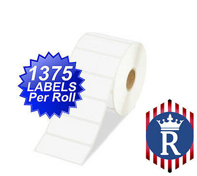 2.5x1 Direct Thermal Zebra Labels ZP-450 / LP-2844 Ships Today! (1,375 Per Roll)