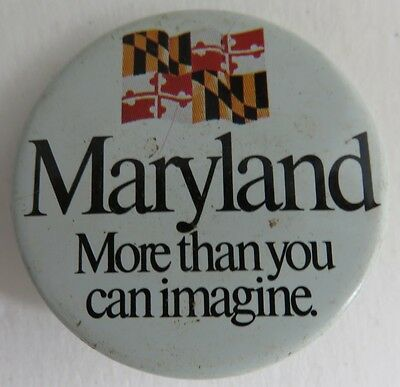 Vintage Maryland Pin Pinback Button                  (Inv11104)