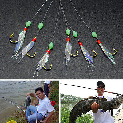 Stainless Steel Fishing Hooks Rigs Wire Leader 6 Swivel Carp String Anti-winding