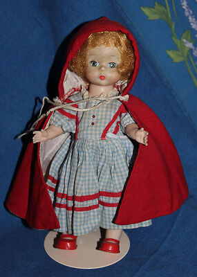 Vintage Madame Alexander Little Red Riding Hood Doll, bent knee, 6 1/2""