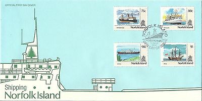 Norfolk 1990 Ships set of 12 on 3 FDC