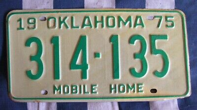 OKLAHOMA rough condition AMERICAN LICENSE NUMBER PLATE #OK