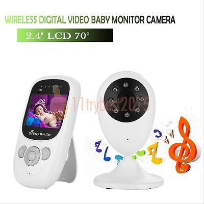 "2.4"" Audio Digital Video Baby Monitor Wireless Camera Night Vision Safety Viewer"