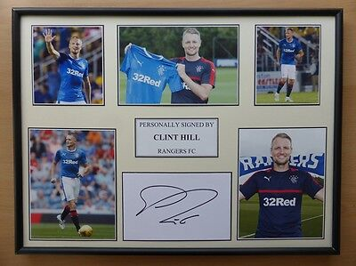 Clint Hill Signed Rangers Multi Picture Display - NEW SIGNING (8635)
