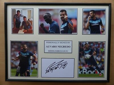 Alvaro Negredo Signed Midlesbrough Multi Picture Display - NEW SIGNING (8650)