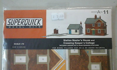 Superquick A Series Card Kit A11 Station Master's House OO/HO model railway