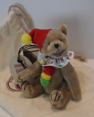 Ganz Cottage Collectible Mini Bear JOLLY Clown Open Mouth 2.5 inch Mary Holstad