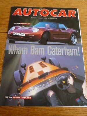 Caterham 21 Vhpd & 7 Superlight 'r' Road Test 'brochure' 'autocar' October 1997