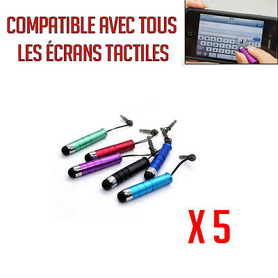 Lot 5 Mini Stylet Iphone Tablette Samsung Écran Tactile