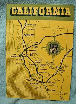 1940's Union Pacific Overland Route California Brochure Booklet