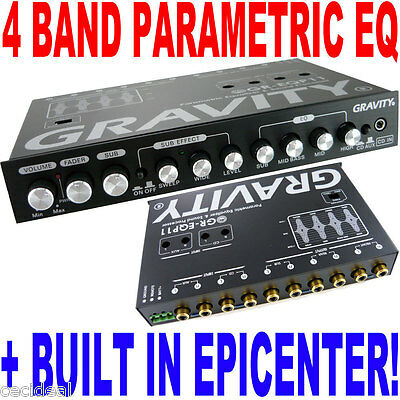 Gravity GR-EQP11 Digital Bass Processor/4-Band EQ Epicenter Equalizer BX-4EQ NEW