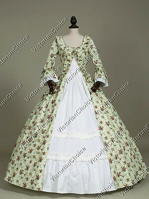 Renaissance Period Floral Prom Dress Reenactment Princess Theater Costume 257