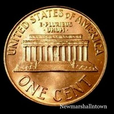 1988 D Lincoln Memorial Penny ~ Uncirculated Cent from Bank Roll