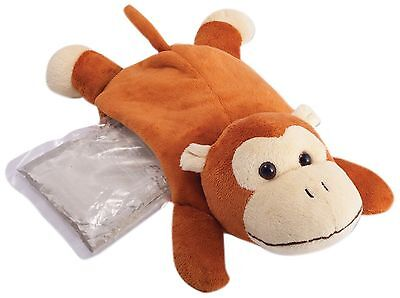 Sunbeam Hot and Cold Plush Monkey Comfort Friend Brown