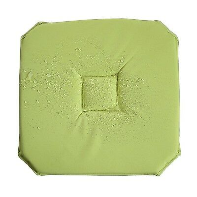 Deconovo Soft Waterproof Chair Pad Cushion Pad Square 16x16 Inch Green