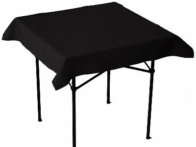 Table in a Bag BLK4848 Square Polyester Tablecloth 48-Inch by 48-Inch Black