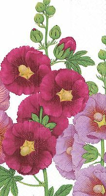 Caspari Entertaining with Hollyhocks Paper Guest Towels 15-Pack 0