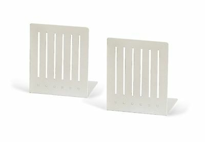 Spectrum 11200 Large Rectangle Bookends White 1-Pair