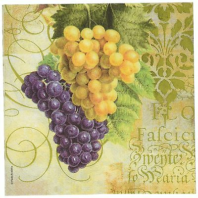 Paperproducts Design 7026 Beverage Cocktail Napkin 5 by 5-Inch Grapes