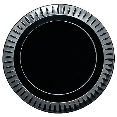"Party Essentials Elegance Quality Plastic 10-1/4"" Party/Dinner Plates Black 1..."