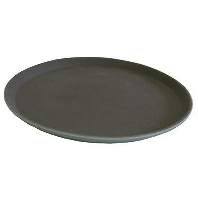 Winco Easy Hold Round Tray 14-Inch Black