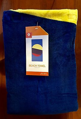 """BEACH TOWEL Blue-Yellow-Navy-Red 32"""" x 62"""" NEW WITH TAGS"""