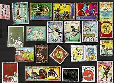50 All Different  OLYMPICS Stamps
