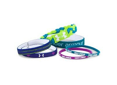 6 Pack Under Armour Girls Multi-Colored UA Graphics  Wristbands Sz OS **