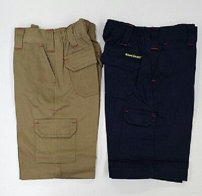 NEW KIDS Cargo Work Short  KHAKI or NAVY Little Tradies Short SIZE 2 4 6 8 10 12