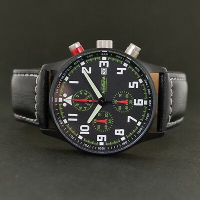 ASTROAVIA AIR CRAFT No.19L BLACK EDITION 6 ZEIGER CHRONOGRAPH FLIEGERUHR PILOT