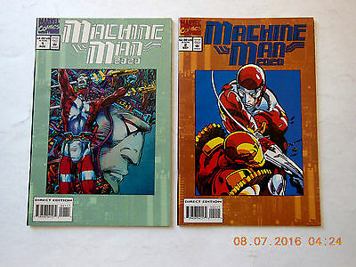 Marvel Comics Machine Man 2020 #1-2 Barry Windsor Smith Complete Comic Book Set!
