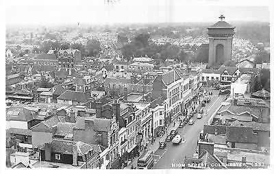 POSTCARD    ESSEX    COLCHESTER   High  Street  from  the  Air   RP