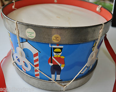 vintage TIN TOY DRUM made in POLAND 1970s