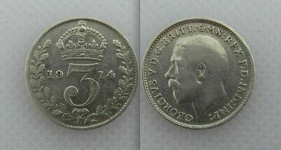 Collectable 1914 George V Silver Threepence